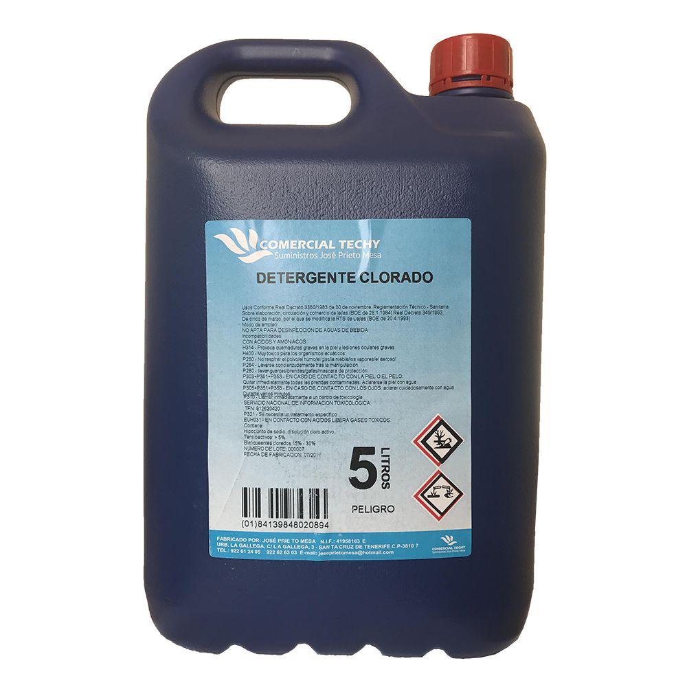Detergente clorado Comercial Techy